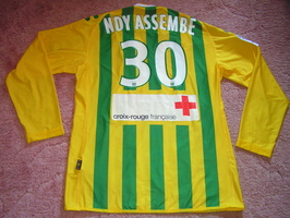 Maillot 2010-2011 N DY ASSEMBE port   NIMES-NANTES   Arri  re