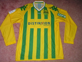 Maillot 2010-2011 N DY ASSEMBE port   NIMES-NANTES   Avant