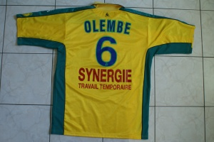 Maillot 2001-2002 OLEMBE arri  re